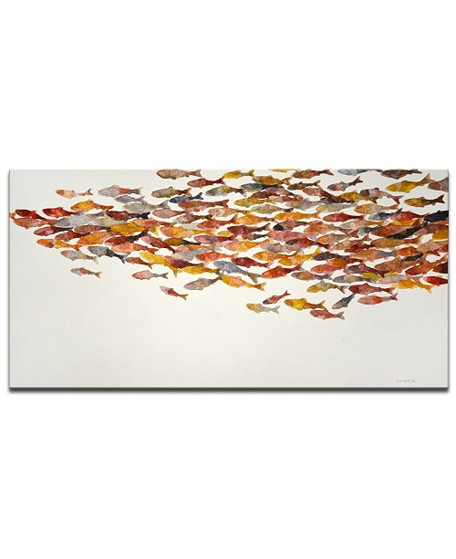 Ready2HangArt 'Red Wave' Canvas Wall Art, 18x36""