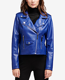 DKNY Faux-Leather Moto Jacket, Created for Macy's