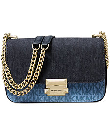 MICHAEL Michael Kors Sloan Signature Denim Chain Shoulder Bag, Created for Macy's