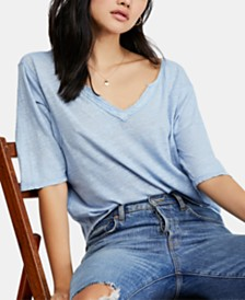 Free People Head In The Clouds V-Neck T-Shirt