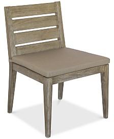 Hadley Outdoor Dining Chair with Sunbrella® Cushion, Created For Macy's