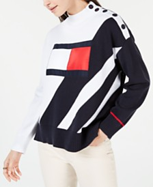 Tommy Hilfiger Diagonal-Stripe Flag Sweater, Created for Macy's