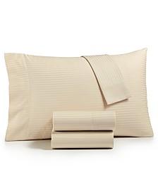 CLOSEOUT! Dobby Stripe 4-Pc King Sheet Set, 600 Thread Count, 100% Cotton