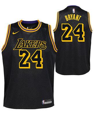 Nike Kobe Bryant Los Angeles Lakers City Edition Swingman Jersey ...