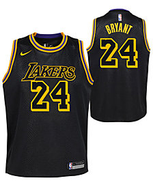 Nike Kobe Bryant Los Angeles Lakers City Edition Swingman Jersey, Big Boys (8-20)