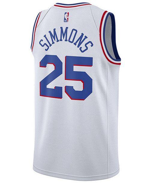 reputable site 9d2ba 8a168 Men's Ben Simmons Philadelphia 76ers Earned Edition Swingman Jersey