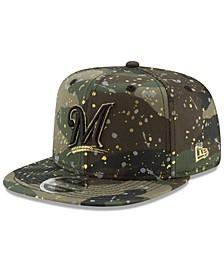 Milwaukee Brewers Camo Spec 9FIFTY Snapback Cap