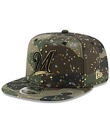 New Era Milwaukee Brewers Camo Spec 9FIFTY Snapback Cap