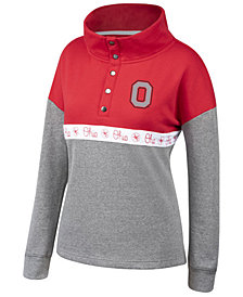 Authentic NCAA Apparel Women's Ohio State Buckeyes Stunt Half-Snap Pullover