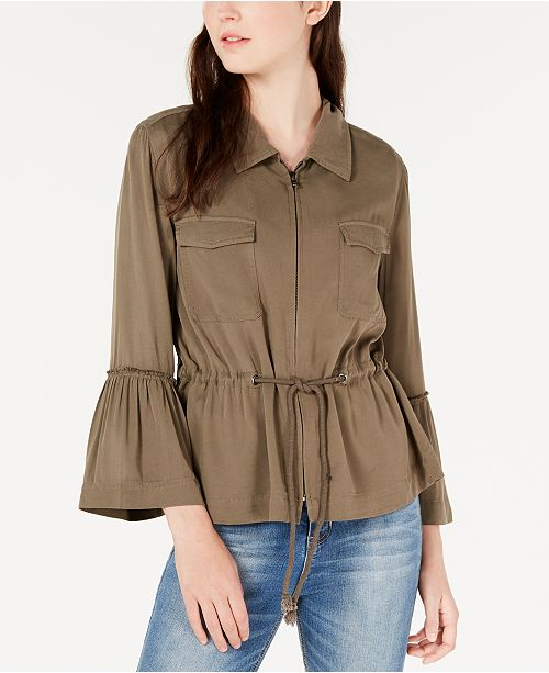 American Rag Juniors' Bell-Sleeve Cargo Jacket, Created for Macy's