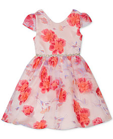 Rare Editions Toddler Girls 3D Floral Dress