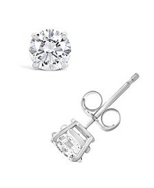 Certified Round Diamond Stud Earrings (1 ct. t.w.) in 14k White Gold or Yellow Gold
