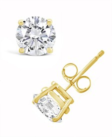 Certified Round Diamond Stud Earrings (2 ct. t.w.) in 14k White Gold or Yellow Gold