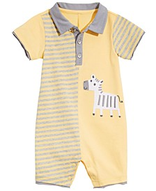 Baby Boys Zebra Cotton Sunsuit, Created for Macy's