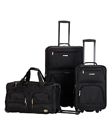 Rockland 3PCE Softside Luggage Set