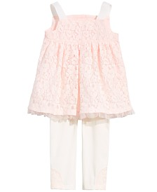 First Impressions Baby Girls 2-Pc. Lace Tunic & Leggings Set, Created for Macy's