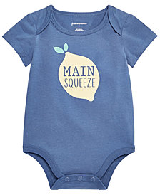 First Impressions Baby Girls or Boys Main Squeeze Graphic Bodysuit, Created for Macy's