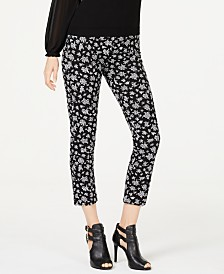 MICHAEL Michael Kors Floral-Print Cropped Pants, Regular & Petite