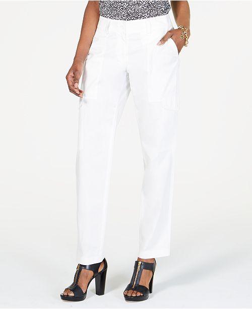 Michael Kors Cotton Cargo Pants, Regular & Petite Sizes