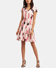 DKNY Printed A-Line Dress, Created for Macy's