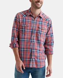 Lucky Brand Men's Plaid Woven Shirt