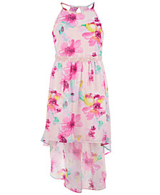 Sequin Hearts Big Girls Plus Floral-Print High-Low Dress