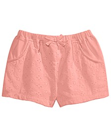 Baby Girls Eyelet Cotton Shorts, Created for Macy's