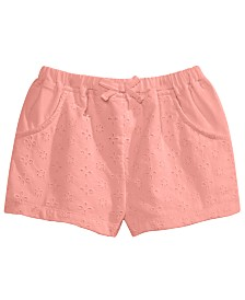 First Impressions Baby Girls Eyelet Cotton Shorts, Created for Macy's