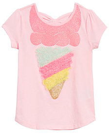 Epic Threads Little Girls Bow-Back Ice Cream T-Shirt, Created for Macy's