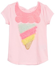 Toddler Girls Bow-Back Ice Cream T-Shirt, Created for Macy's