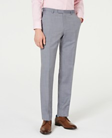 HUGO Men's Modern-Fit Mini-Grid Pants