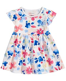 First Impressions Toddler Girls Butterfly-Print Tunic, Created for Macy's