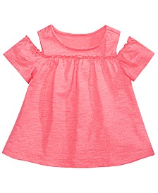 First Impressions Baby Girls Cold-Shoulder Cotton Tunic, Created for Macy's
