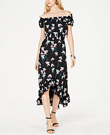 I.N.C. Petite Printed Off-The-Shoulder Midi Dress, Created for Macy's