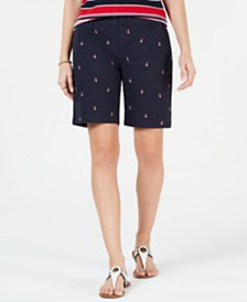 "Tommy Hilfiger 9"" Chino Boat Shorts, Created for Macy's"