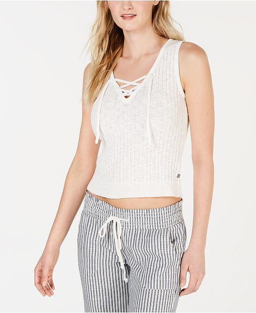 Roxy Juniors' Grove Court Delight Cotton Sweater Tank Top