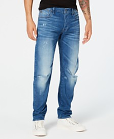 G-Star RAW Men's Arc 3D Slim-Fit Stretch Destroyed Jeans