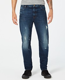 G-Star RAW Men's Arc 3D Relaxed Tapered-Fit Destroyed Paint-Splatter Jeans, Created for Macy's