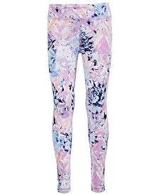 Ideology Big Girls Plus Floral-Print Leggings, Created for Macy's