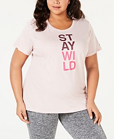 Plus Size Word Block T-Shirt