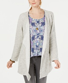 Style & Co Drape Front Cardigan; Created for Macy's