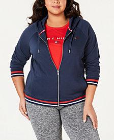 Tommy Hilfiger Sport Plus Size Fleece Long-Sleeve Zip-Up Hoodie