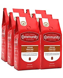 Pecan Praline Medium Roast Premium Ground Coffee, 12 Oz - 6 Pack