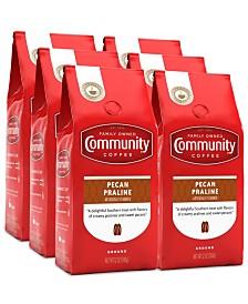 Pecan Praline Medium Roast Premium Ground Coffee, 12 Oz - 6 Pack