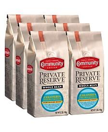 Private Reserve Colombia Toledo-Labateca Medium-Dark Roast Specialty-Grade Whole Bean Coffee, 12 Oz - 6 Pack