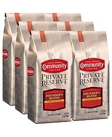Private Reserve Founder's Blend Medium-Dark Roast Specialty-Grade Ground Coffee, 12 Oz - 6 Pack