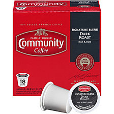 Signature Blend Dark Roast Single Serve Pods, Keurig K-Cup Brewer Compatible, 72 Ct