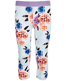 Ideology Big Girls Floral-Print Capris, Created for Macy's