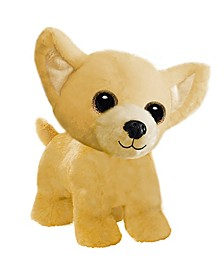 First and Main - Wuffles Chihuahua Spaniel Plush Dog, 7 Inches Sitting