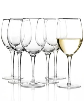 Tuscany White Wine Glasses 6 Piece Value Set